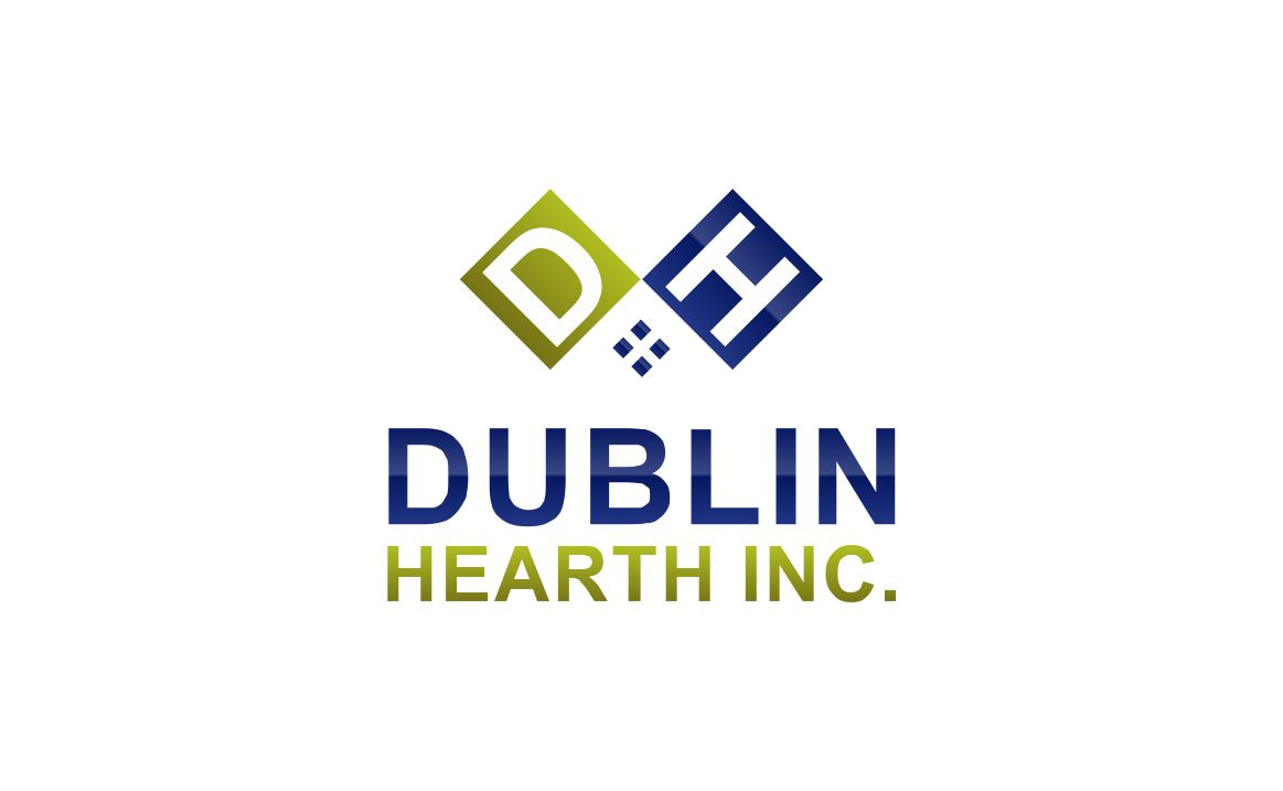 Logo Design by Muhammad Aslam - Entry No. 76 in the Logo Design Contest clean professional  Logo Design for Dublin Hearth Inc. with a splash of fun with letter head.