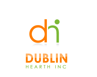 Logo Design by Crystal Desizns - Entry No. 77 in the Logo Design Contest clean professional  Logo Design for Dublin Hearth Inc. with a splash of fun with letter head.