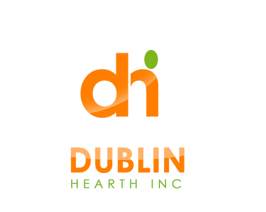 Logo Design by Crystal Desizns - Entry No. 78 in the Logo Design Contest clean professional  Logo Design for Dublin Hearth Inc. with a splash of fun with letter head.