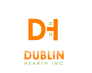 Logo Design by Crystal Desizns - Entry No. 79 in the Logo Design Contest clean professional  Logo Design for Dublin Hearth Inc. with a splash of fun with letter head.