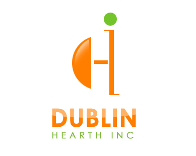 Logo Design by Crystal Desizns - Entry No. 80 in the Logo Design Contest clean professional  Logo Design for Dublin Hearth Inc. with a splash of fun with letter head.
