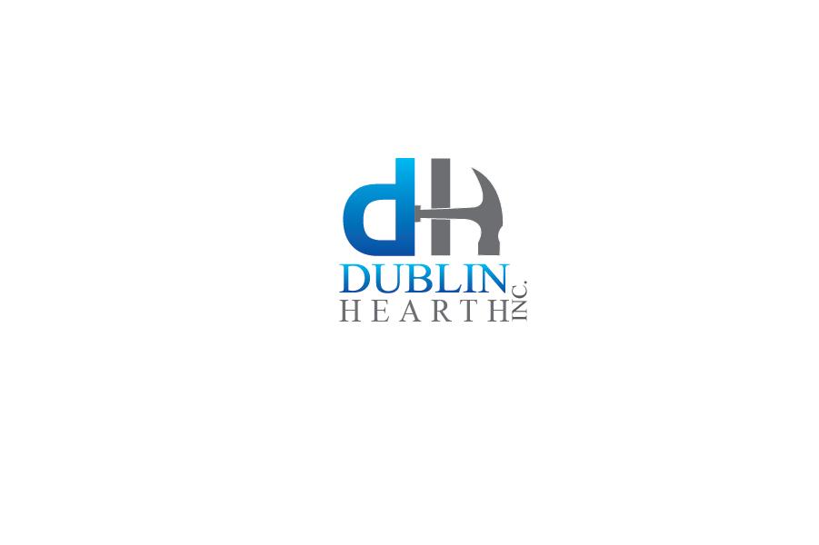 Logo Design by Private User - Entry No. 81 in the Logo Design Contest clean professional  Logo Design for Dublin Hearth Inc. with a splash of fun with letter head.