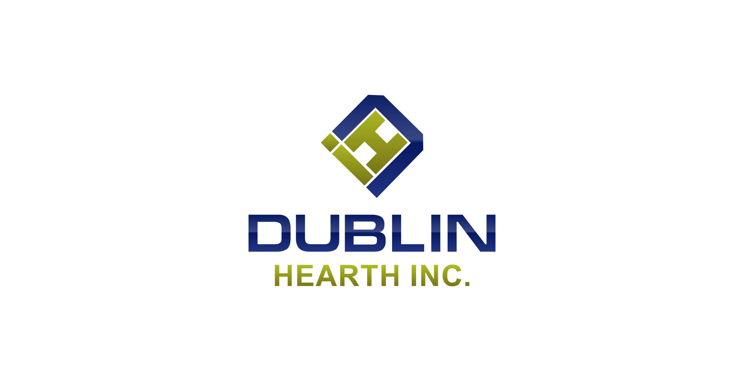 Logo Design by Muhammad Aslam - Entry No. 84 in the Logo Design Contest clean professional  Logo Design for Dublin Hearth Inc. with a splash of fun with letter head.