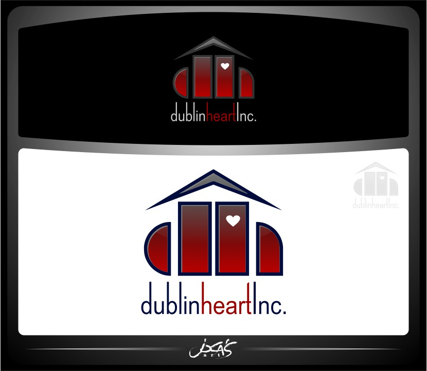 Logo Design by joca - Entry No. 85 in the Logo Design Contest clean professional  Logo Design for Dublin Hearth Inc. with a splash of fun with letter head.