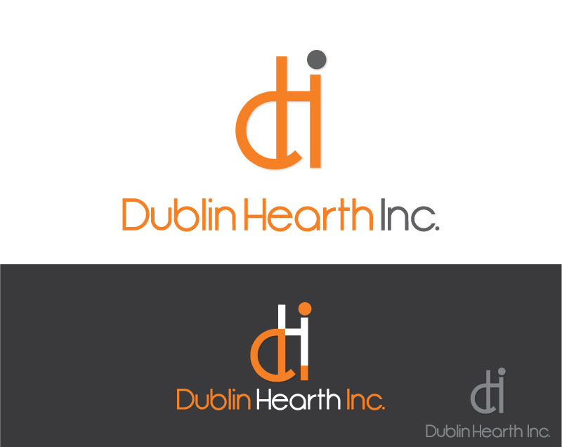 Logo Design by Private User - Entry No. 86 in the Logo Design Contest clean professional  Logo Design for Dublin Hearth Inc. with a splash of fun with letter head.