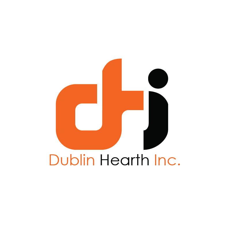 Logo Design by Iskander Dino - Entry No. 87 in the Logo Design Contest clean professional  Logo Design for Dublin Hearth Inc. with a splash of fun with letter head.