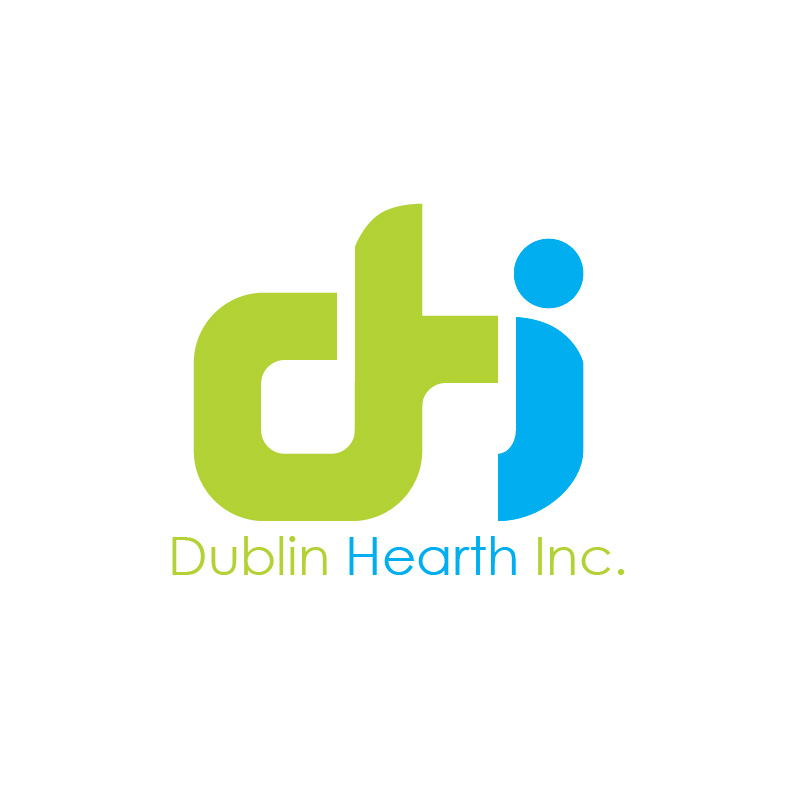Logo Design by Iskander Dino - Entry No. 88 in the Logo Design Contest clean professional  Logo Design for Dublin Hearth Inc. with a splash of fun with letter head.