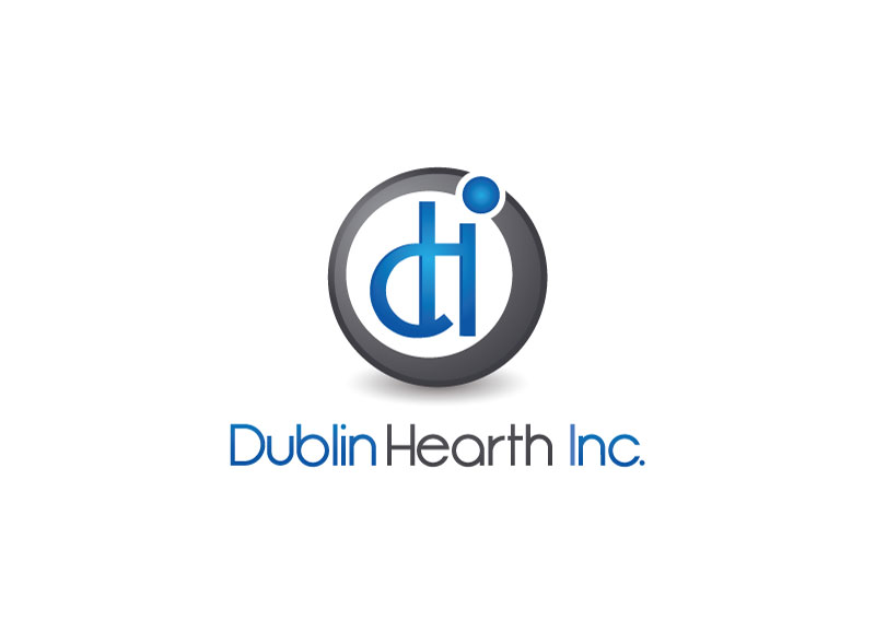 Logo Design by Private User - Entry No. 89 in the Logo Design Contest clean professional  Logo Design for Dublin Hearth Inc. with a splash of fun with letter head.