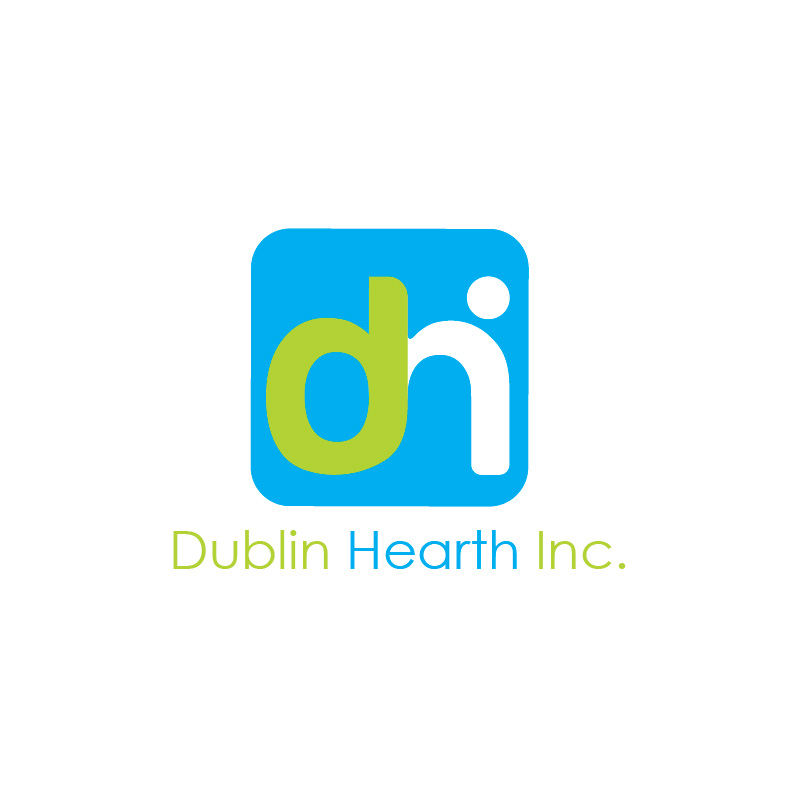 Logo Design by Iskander Dino - Entry No. 90 in the Logo Design Contest clean professional  Logo Design for Dublin Hearth Inc. with a splash of fun with letter head.