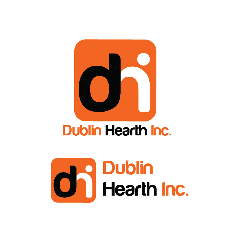 Logo Design by Iskander Dino - Entry No. 91 in the Logo Design Contest clean professional  Logo Design for Dublin Hearth Inc. with a splash of fun with letter head.