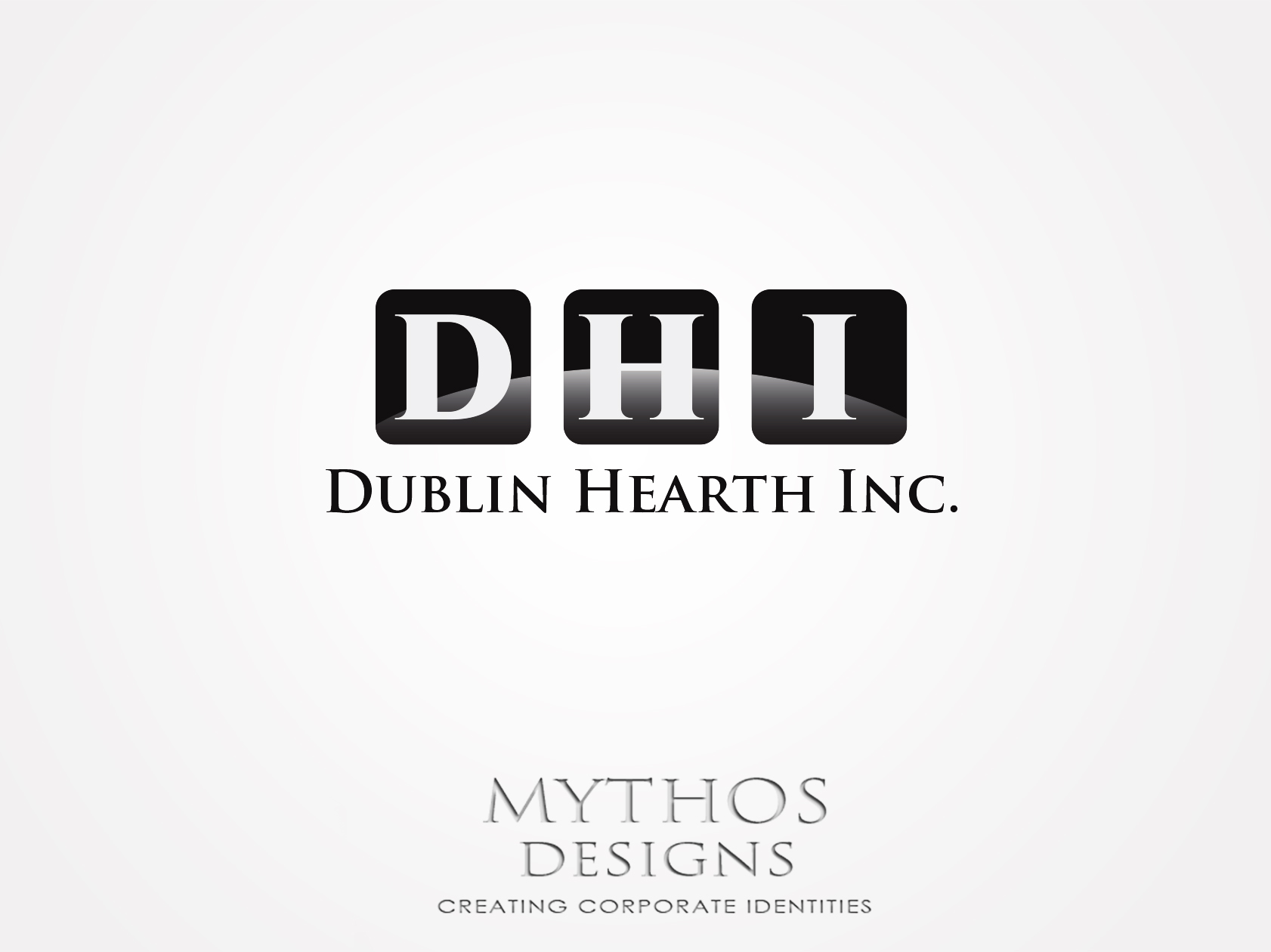 Logo Design by Mythos Designs - Entry No. 92 in the Logo Design Contest clean professional  Logo Design for Dublin Hearth Inc. with a splash of fun with letter head.