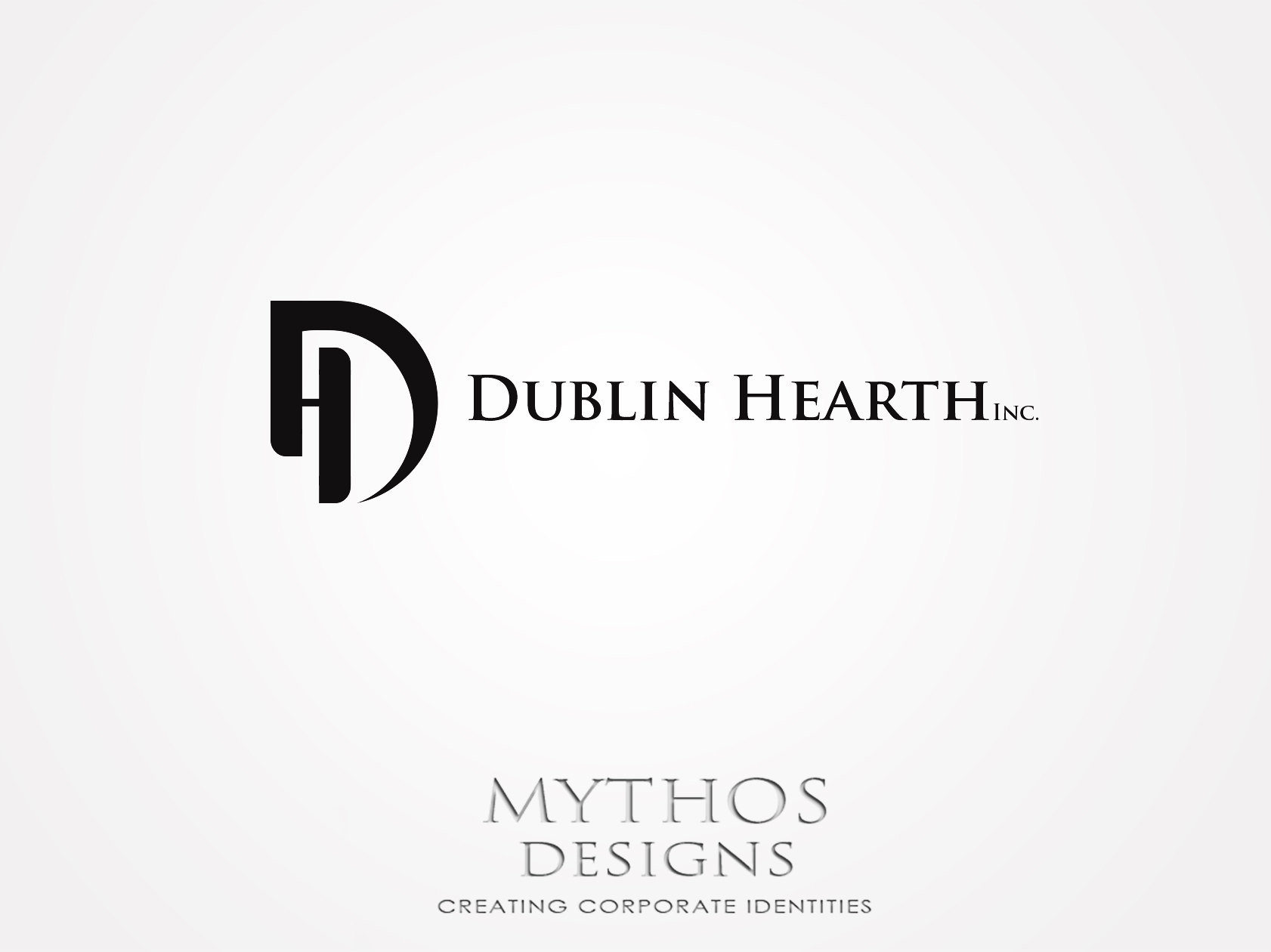 Logo Design by Mythos Designs - Entry No. 93 in the Logo Design Contest clean professional  Logo Design for Dublin Hearth Inc. with a splash of fun with letter head.