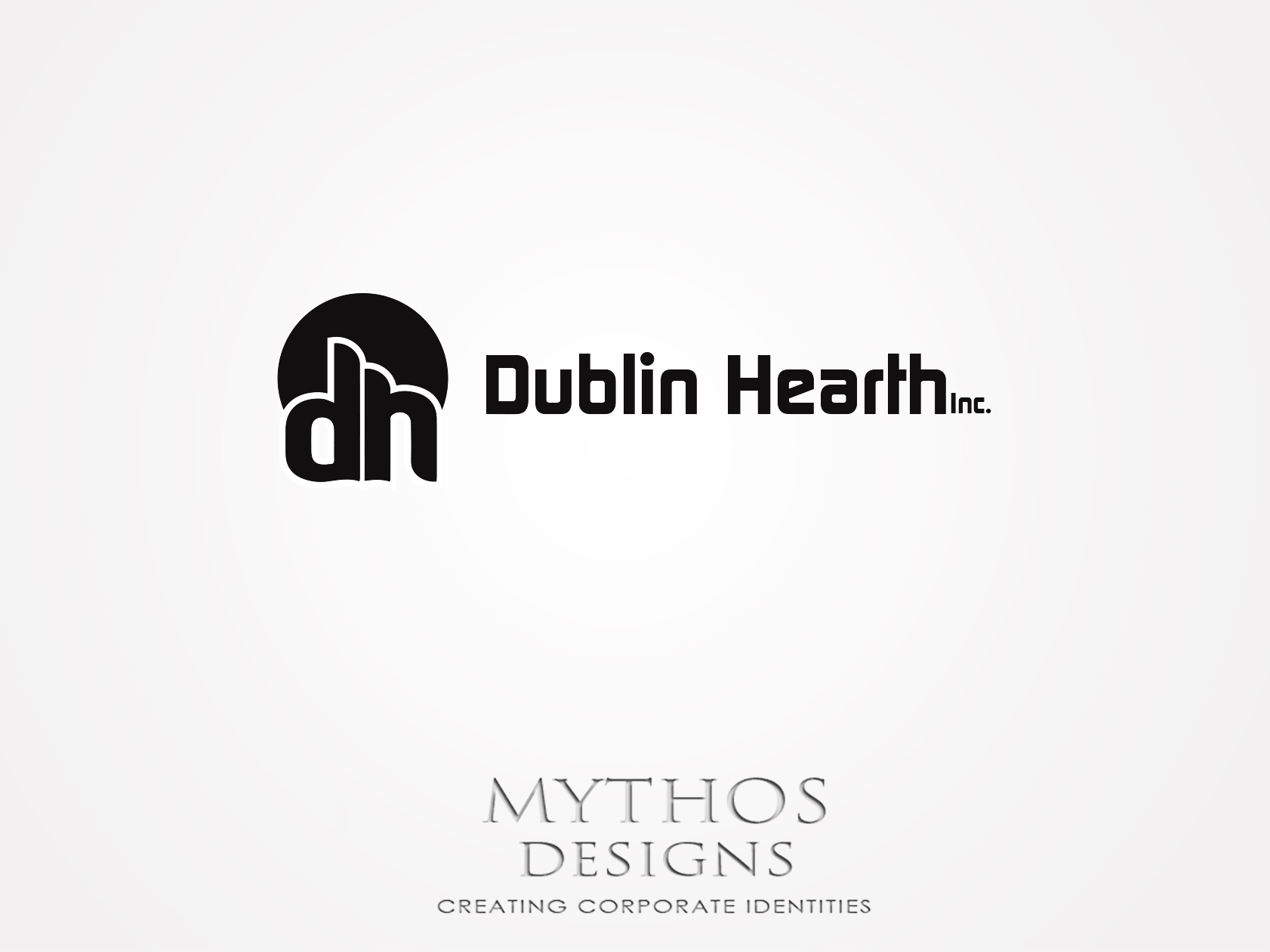 Logo Design by Mythos Designs - Entry No. 94 in the Logo Design Contest clean professional  Logo Design for Dublin Hearth Inc. with a splash of fun with letter head.