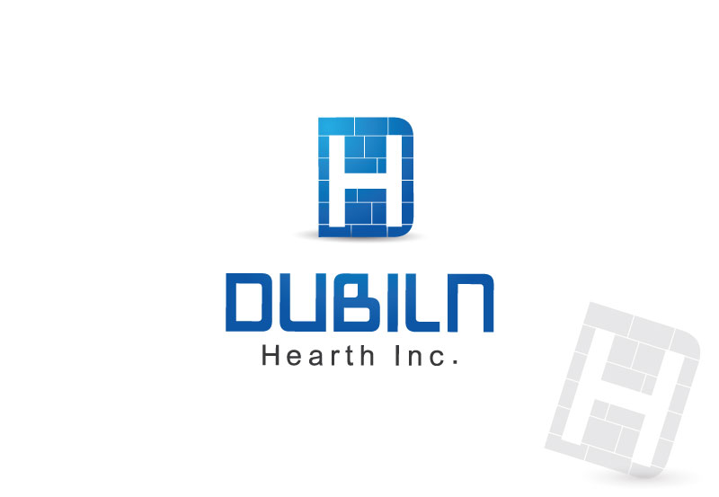 Logo Design by Private User - Entry No. 95 in the Logo Design Contest clean professional  Logo Design for Dublin Hearth Inc. with a splash of fun with letter head.