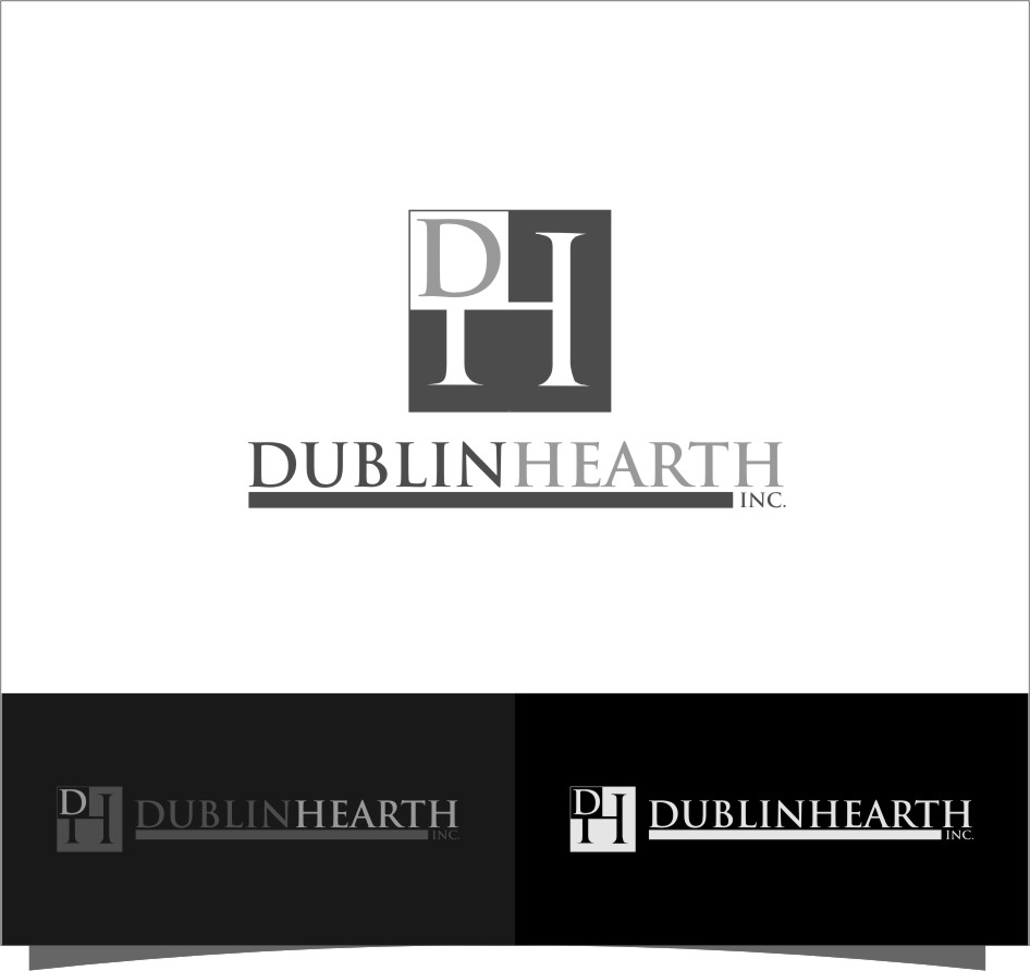 Logo Design by RoSyid Rono-Rene On Java - Entry No. 97 in the Logo Design Contest clean professional  Logo Design for Dublin Hearth Inc. with a splash of fun with letter head.