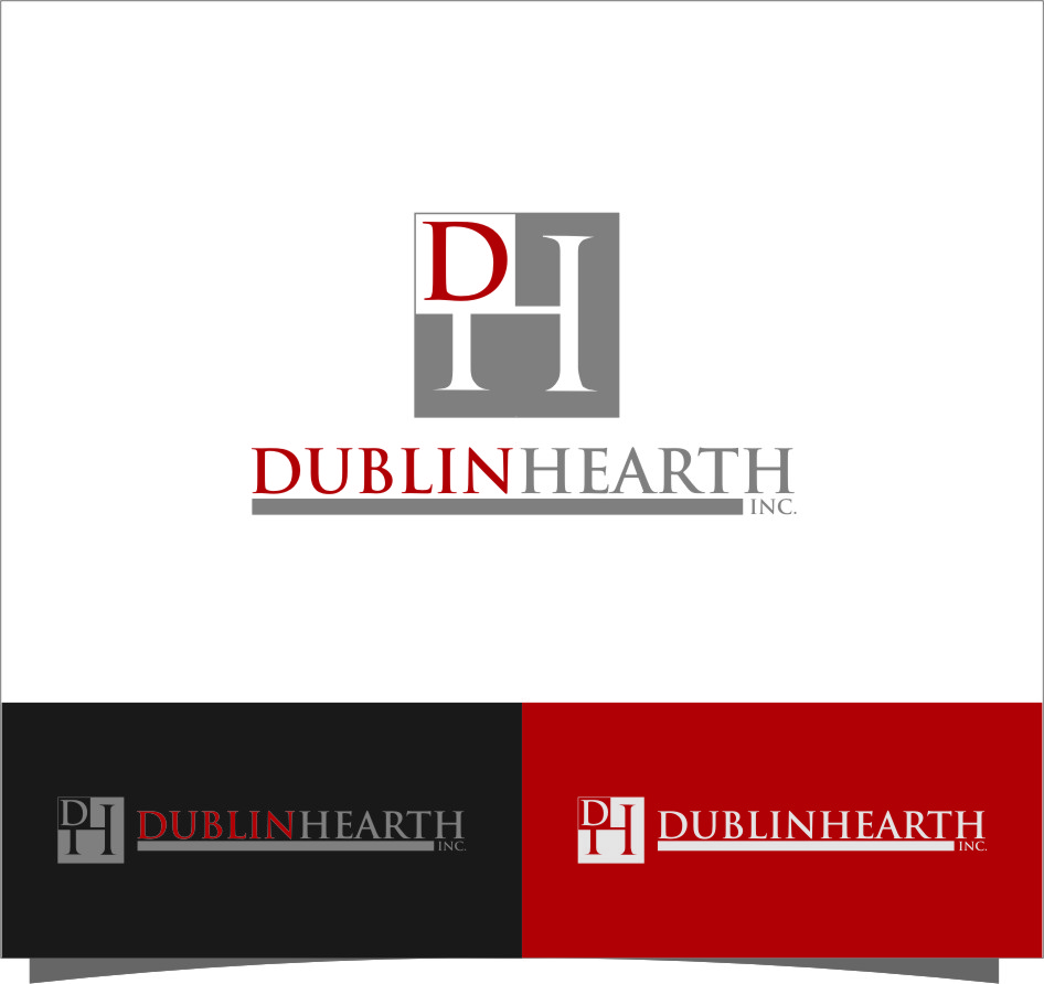 Logo Design by RoSyid Rono-Rene On Java - Entry No. 98 in the Logo Design Contest clean professional  Logo Design for Dublin Hearth Inc. with a splash of fun with letter head.