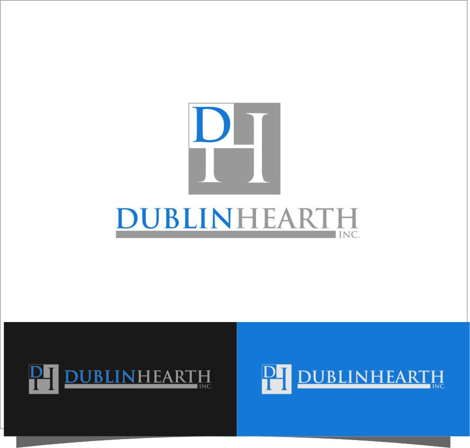 Logo Design by RasYa Muhammad Athaya - Entry No. 99 in the Logo Design Contest clean professional  Logo Design for Dublin Hearth Inc. with a splash of fun with letter head.