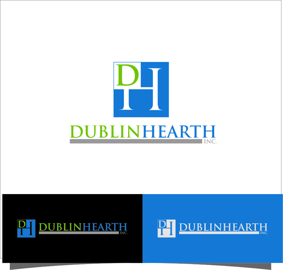 Logo Design by Ngepet_art - Entry No. 100 in the Logo Design Contest clean professional  Logo Design for Dublin Hearth Inc. with a splash of fun with letter head.