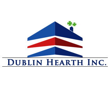 Logo Design by Crystal Desizns - Entry No. 101 in the Logo Design Contest clean professional  Logo Design for Dublin Hearth Inc. with a splash of fun with letter head.