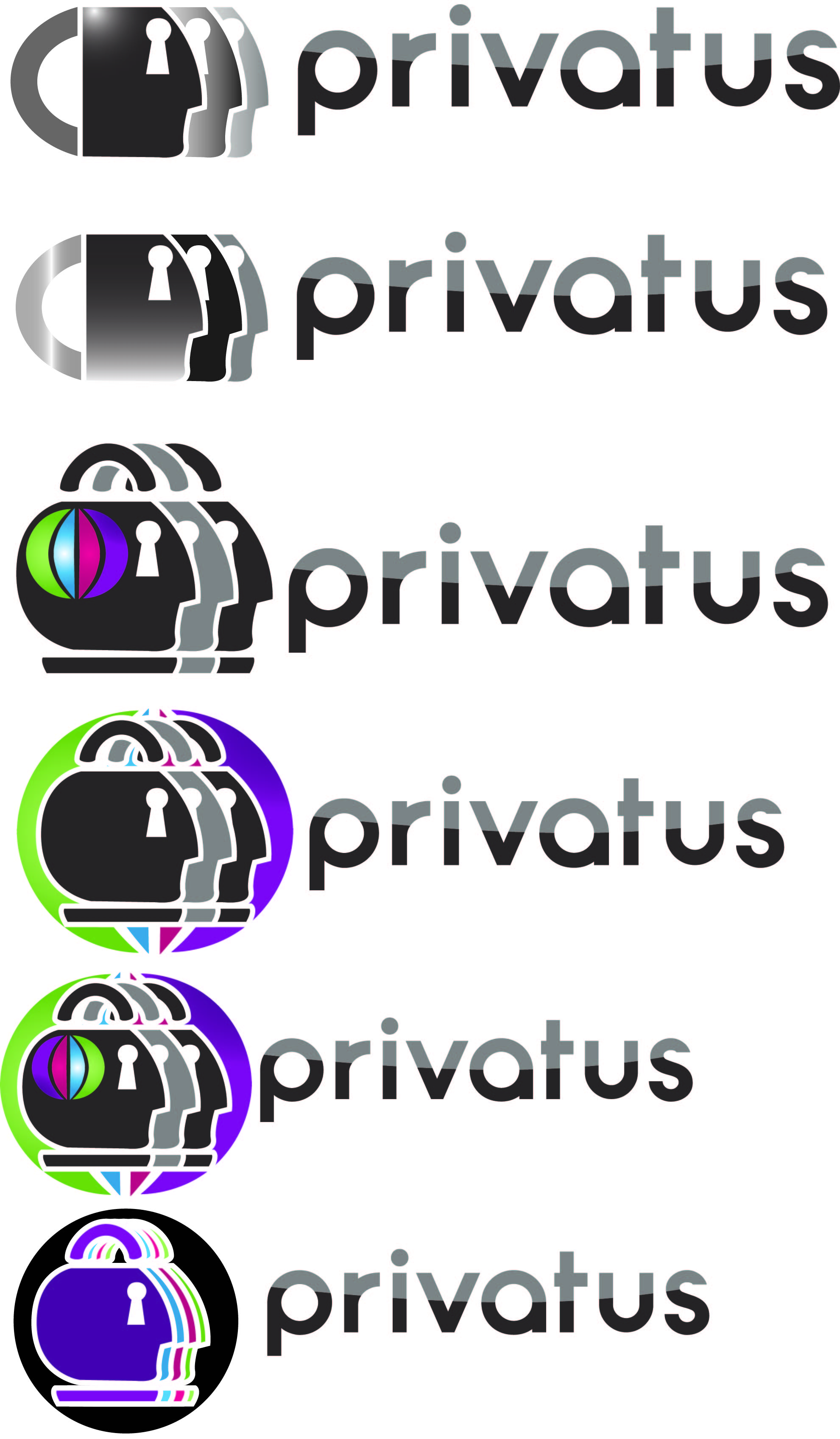 Logo Design by Jonathan Aclado - Entry No. 52 in the Logo Design Contest New Logo Design for privatus.