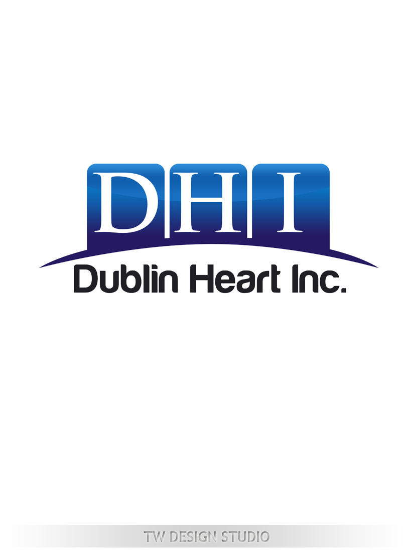 Logo Design by Private User - Entry No. 102 in the Logo Design Contest clean professional  Logo Design for Dublin Hearth Inc. with a splash of fun with letter head.