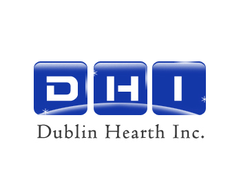 Logo Design by Crystal Desizns - Entry No. 103 in the Logo Design Contest clean professional  Logo Design for Dublin Hearth Inc. with a splash of fun with letter head.