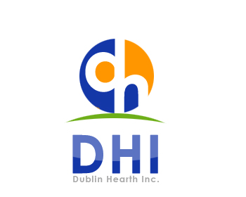 Logo Design by Crystal Desizns - Entry No. 104 in the Logo Design Contest clean professional  Logo Design for Dublin Hearth Inc. with a splash of fun with letter head.