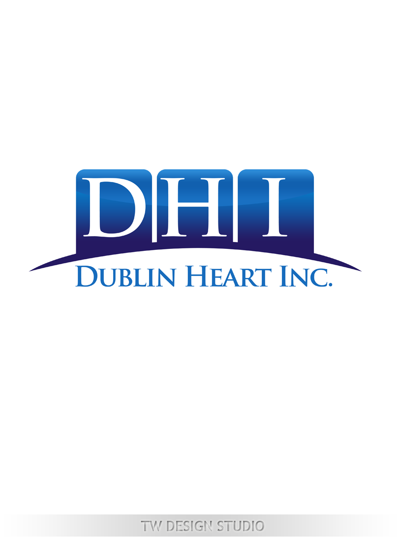 Logo Design by Private User - Entry No. 105 in the Logo Design Contest clean professional  Logo Design for Dublin Hearth Inc. with a splash of fun with letter head.