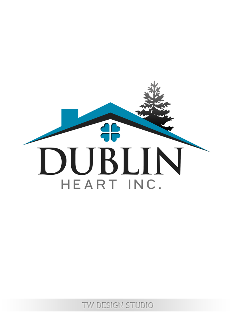 Logo Design by Private User - Entry No. 106 in the Logo Design Contest clean professional  Logo Design for Dublin Hearth Inc. with a splash of fun with letter head.