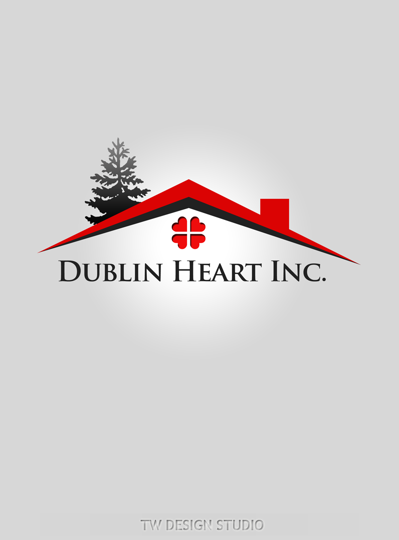 Logo Design by Private User - Entry No. 107 in the Logo Design Contest clean professional  Logo Design for Dublin Hearth Inc. with a splash of fun with letter head.