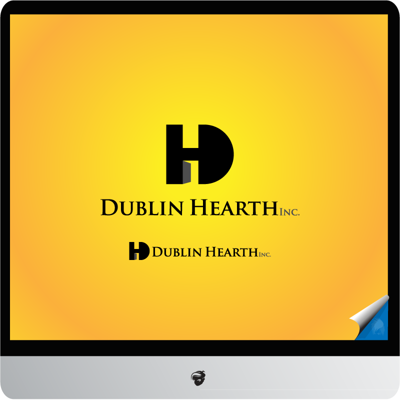 Logo Design by zesthar - Entry No. 108 in the Logo Design Contest clean professional  Logo Design for Dublin Hearth Inc. with a splash of fun with letter head.