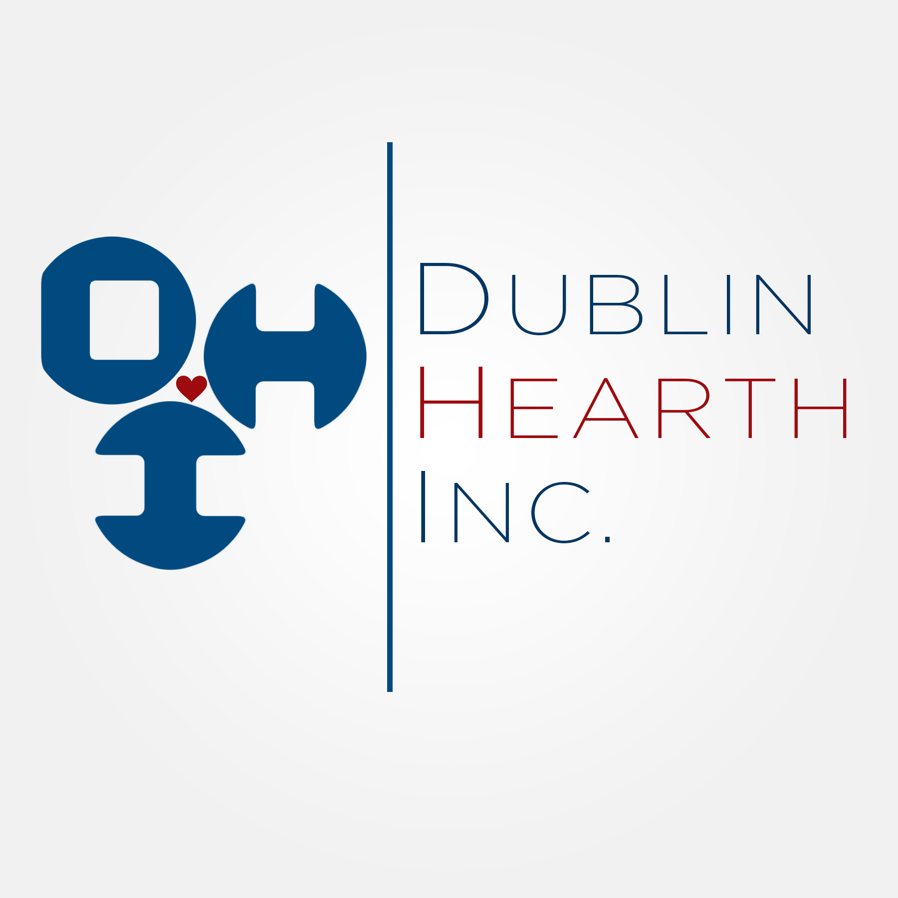Logo Design by Lemuel Arvin Tanzo - Entry No. 109 in the Logo Design Contest clean professional  Logo Design for Dublin Hearth Inc. with a splash of fun with letter head.