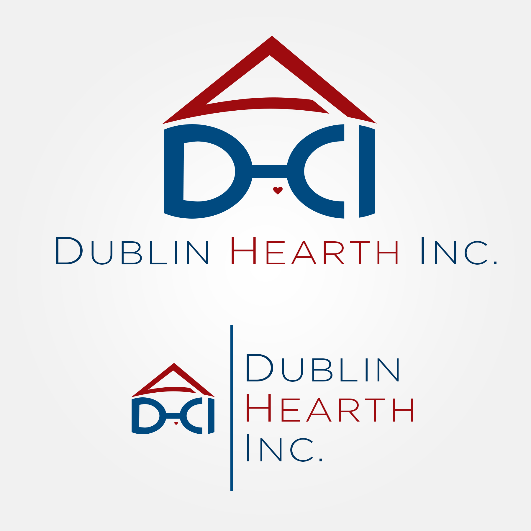Logo Design by Lemuel Arvin Tanzo - Entry No. 110 in the Logo Design Contest clean professional  Logo Design for Dublin Hearth Inc. with a splash of fun with letter head.