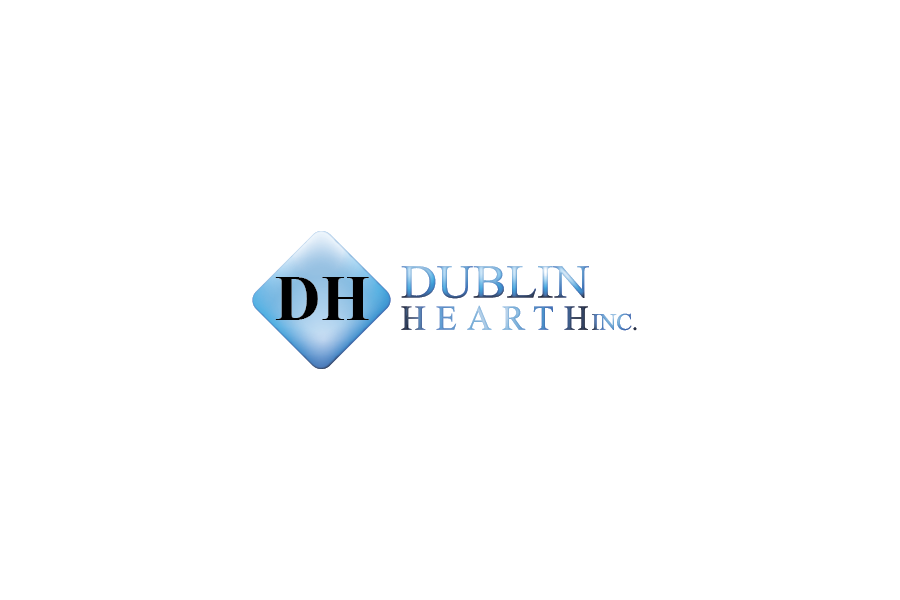 Logo Design by Private User - Entry No. 111 in the Logo Design Contest clean professional  Logo Design for Dublin Hearth Inc. with a splash of fun with letter head.