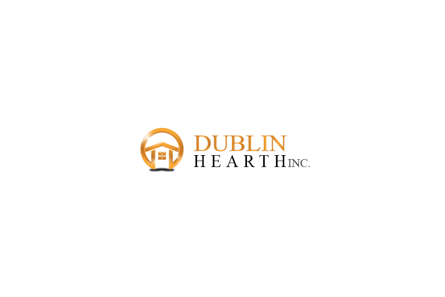 Logo Design by Private User - Entry No. 112 in the Logo Design Contest clean professional  Logo Design for Dublin Hearth Inc. with a splash of fun with letter head.
