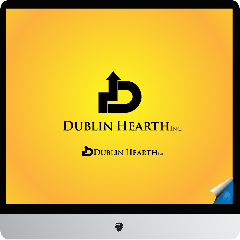 Logo Design by zesthar - Entry No. 115 in the Logo Design Contest clean professional  Logo Design for Dublin Hearth Inc. with a splash of fun with letter head.
