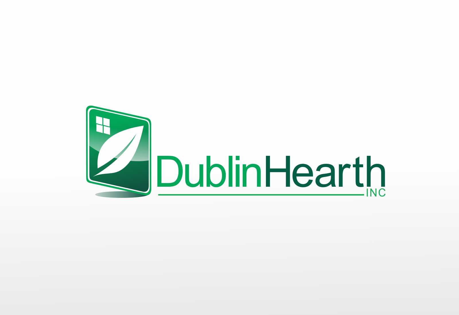 Logo Design by Web Sourcing - Entry No. 117 in the Logo Design Contest clean professional  Logo Design for Dublin Hearth Inc. with a splash of fun with letter head.