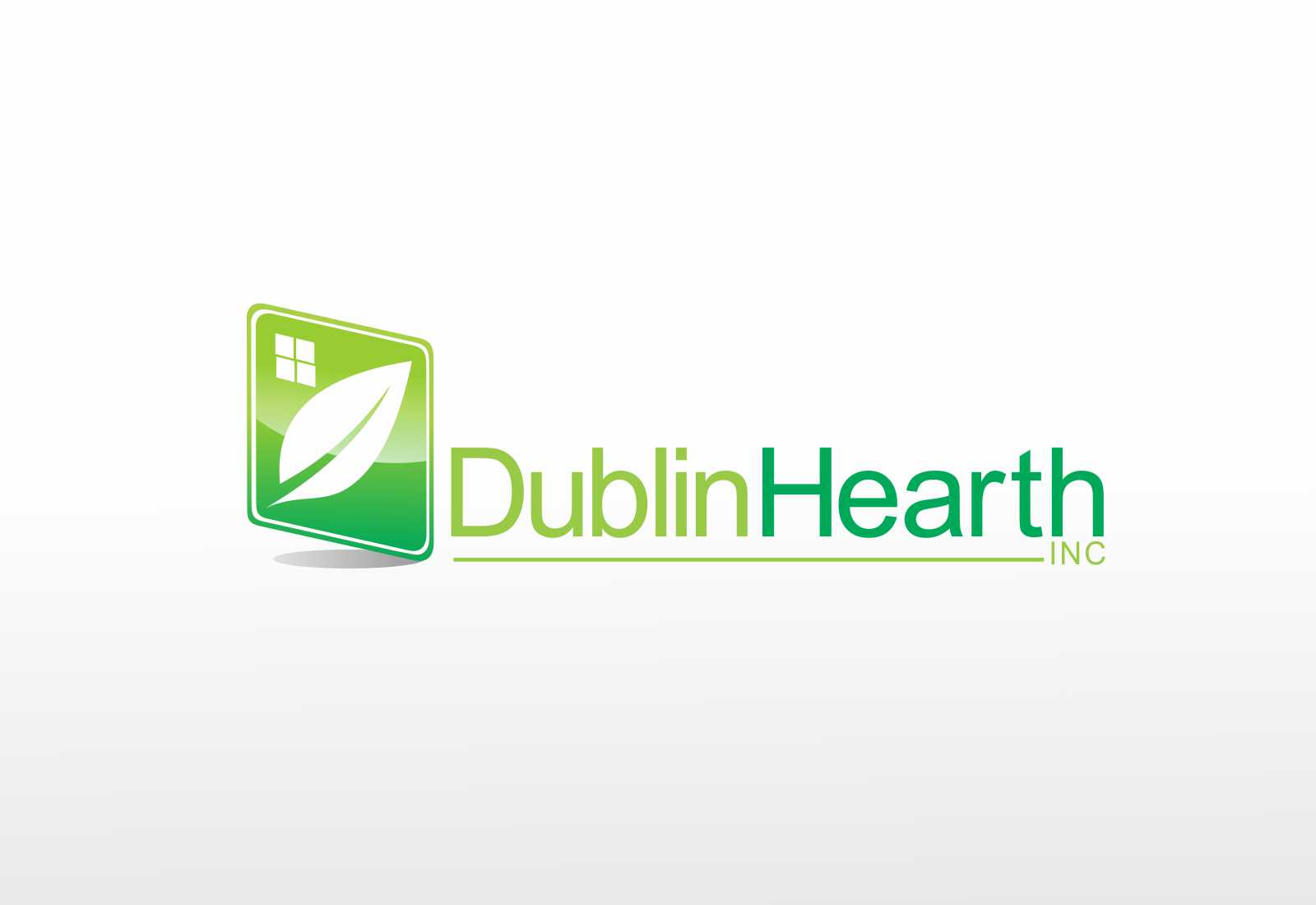Logo Design by Web Sourcing - Entry No. 118 in the Logo Design Contest clean professional  Logo Design for Dublin Hearth Inc. with a splash of fun with letter head.