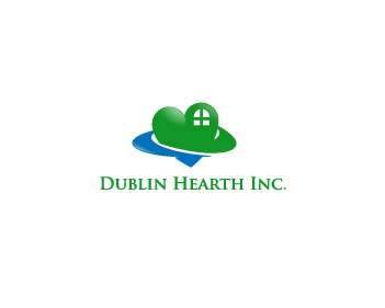 Logo Design by Private User - Entry No. 119 in the Logo Design Contest clean professional  Logo Design for Dublin Hearth Inc. with a splash of fun with letter head.