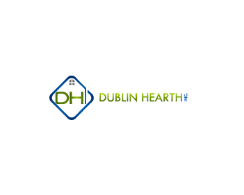 Logo Design by Private User - Entry No. 120 in the Logo Design Contest clean professional  Logo Design for Dublin Hearth Inc. with a splash of fun with letter head.