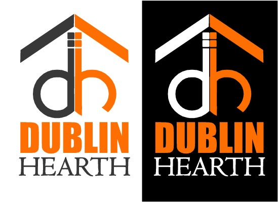 Logo Design by Ismail Adhi Wibowo - Entry No. 121 in the Logo Design Contest clean professional  Logo Design for Dublin Hearth Inc. with a splash of fun with letter head.