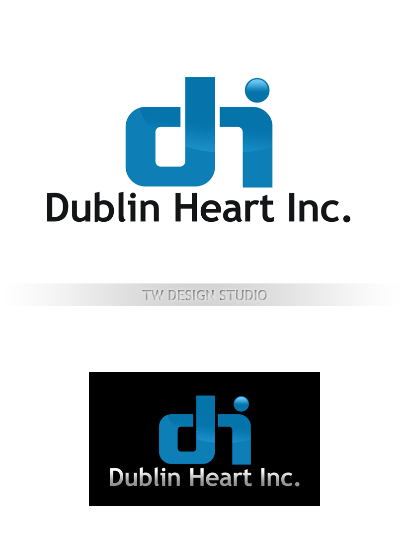 Logo Design by Private User - Entry No. 122 in the Logo Design Contest clean professional  Logo Design for Dublin Hearth Inc. with a splash of fun with letter head.