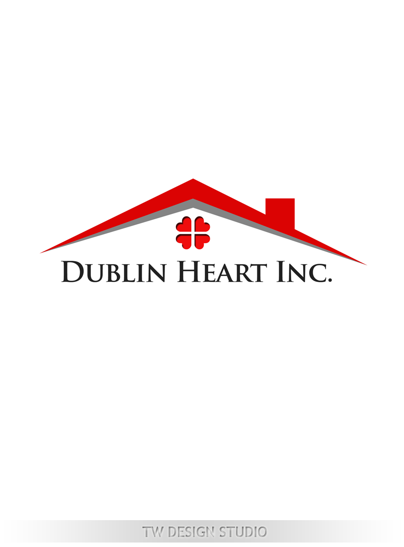 Logo Design by Private User - Entry No. 123 in the Logo Design Contest clean professional  Logo Design for Dublin Hearth Inc. with a splash of fun with letter head.
