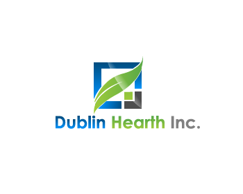 Logo Design by Private User - Entry No. 127 in the Logo Design Contest clean professional  Logo Design for Dublin Hearth Inc. with a splash of fun with letter head.