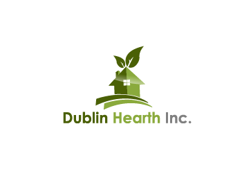 Logo Design by Private User - Entry No. 128 in the Logo Design Contest clean professional  Logo Design for Dublin Hearth Inc. with a splash of fun with letter head.