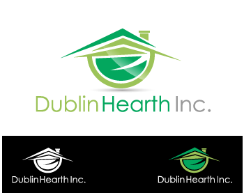 Logo Design by Private User - Entry No. 129 in the Logo Design Contest clean professional  Logo Design for Dublin Hearth Inc. with a splash of fun with letter head.