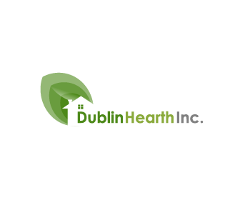 Logo Design by Private User - Entry No. 131 in the Logo Design Contest clean professional  Logo Design for Dublin Hearth Inc. with a splash of fun with letter head.