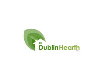 Logo Design by Private User - Entry No. 132 in the Logo Design Contest clean professional  Logo Design for Dublin Hearth Inc. with a splash of fun with letter head.