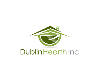 Logo Design by Private User - Entry No. 134 in the Logo Design Contest clean professional  Logo Design for Dublin Hearth Inc. with a splash of fun with letter head.