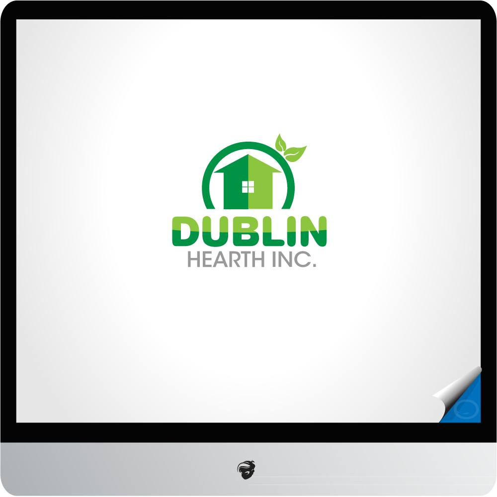 Logo Design by zesthar - Entry No. 135 in the Logo Design Contest clean professional  Logo Design for Dublin Hearth Inc. with a splash of fun with letter head.